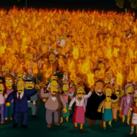 Thousands of people protested The Simpsons being taken off air in Bolivia