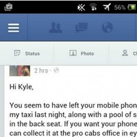 A Galway taxi man left some priceless Facebook advice for this lad who forgot his phone