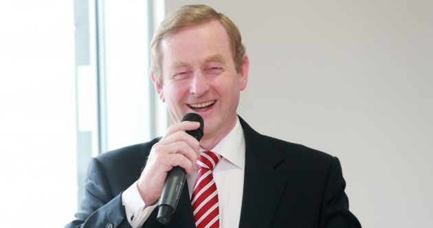 "Enda to Gerry: ""The trampoline must be having an effect on you"""