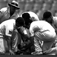 Heartbreaking: Image of injured Phillip Hughes wins prestigious prize