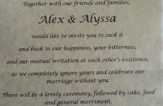 Bride gets revenge on her 'narcissistic' parents with super harsh wedding invitation