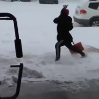 This 10 second video of a man slipping on ice is magnificent