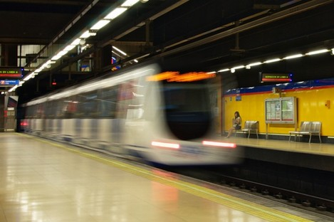 File photo of the metro in Madrid.