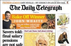 The Telegraph is getting a LOT of flack over this front page