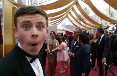 It looks like the kid from Moone Boy had serious craic at the Oscars last night