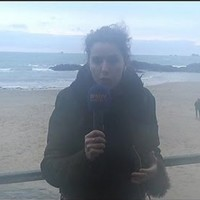 A weather reporter named Fanny was knocked over by a huge wave on live TV
