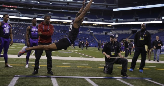 A wannabe NFL player may have just broken a world record at the Combine