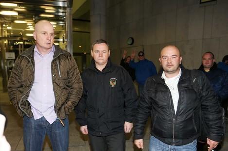 Damien O'Neill, Paul Moore and Derek Byrne.