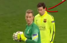 Lionel Messi tried and failed to 'do a Robbie Keane' against City last night
