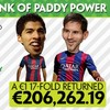 Galway punter claims a whopping €206k back off his €1 football accumulator