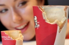 KFC invents dream edible coffee cup made of sugar and heaven