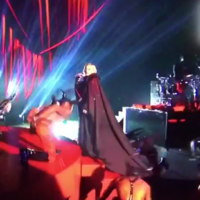 Madonna went right on her ear at the Brits last night