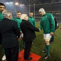 'I don't say the exact same thing to the visiting captain as I say to Paul O'Connell' - President Higgins on those pre-game line-ups