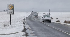 Careful on the roads... Met Éireann has issued a snow-ice warning for the country