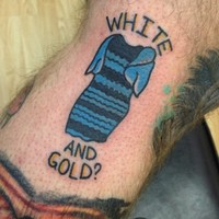 A man has only gone and tattooed #TheDress on himself