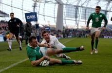 Man-of-the-match Robbie Henshaw with a brilliant try in the corner