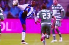 Jackson Martinez with the most outrageous assist of the weekend