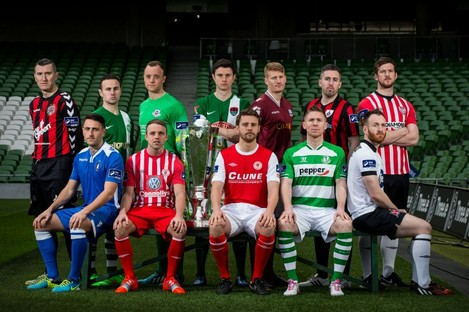 Players from the SSE Airtricity League Premier Division at Friday's league launch.