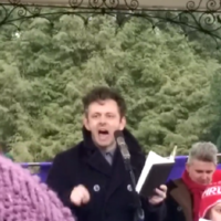 """Believe in something!"" - Here's why everyone's talking about Michael Sheen's stirring speech"