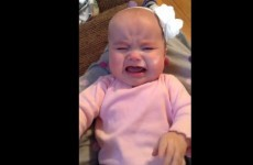 This baby's crying is soothed only by the dulcet tones of Taylor Swift