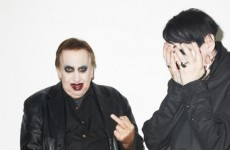 Marilyn Manson's dad dressed up as him and surprised him at a photo shoot
