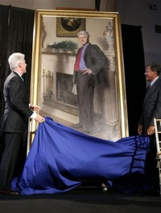 This official Bill Clinton portrait contains a subtle reference to THAT dress
