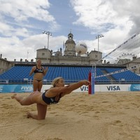 In pictures: Olympic stars test London's beach volleyball facility