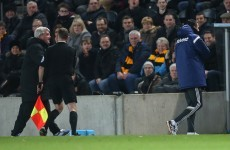 The linesman did very well to restrain an angry Steve Bruce as Sunderland held Hull