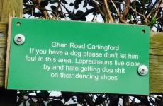 This sign in Carlingford has a stern message for dog owners