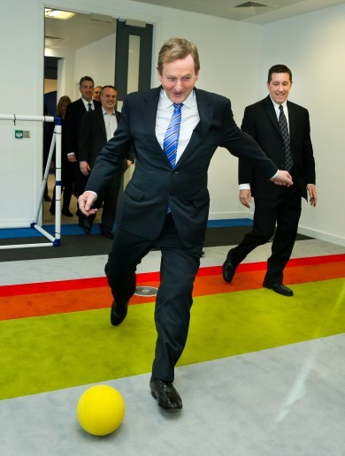 Enda Kenny enjoyed himself at a big jobs announcement in Dublin today