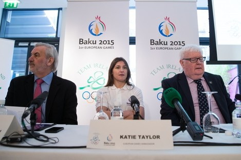 Kieran Mulvey (left) was speaking at the 100 Days to Go milestone event organised by the Olympic Council of Ireland today.