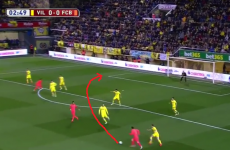 Neymar opened the scoring for Barca tonight - but it's all about the assist by Messi