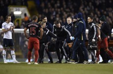 Swansea striker Gomis 'fine' after worrying collapse at White Hart Lane