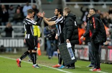 Welcome back! Gutierrez makes first Newcastle appearance in 17 months following cancer battle