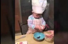 Sorry but this 1-year-old is already way better at cracking eggs than you are