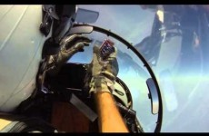 Here's how you pass a bar of chocolate through a fighter jet