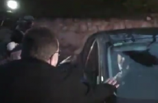VIDEO: Brian O'Donnell's car allegedly rolls over foot of Land League member