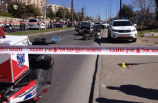 Four police injured as car ploughs into crowd in Jerusalem