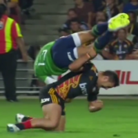 There was a controversial yellow card in this morning's Super Rugby