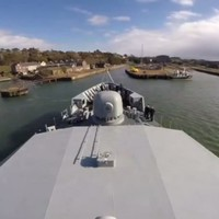 This timelapse video of the LÉ Samuel Beckett heading to dry-dock is strangely hypnotic