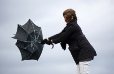 Hold on to that brolly. Gusts to reach up to 100km/hr today