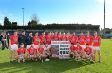 Nice touch as Cork footballers showed support today for former teammate Jamie Wall