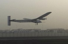 Solar-powered plane takes off on historic flight around the world