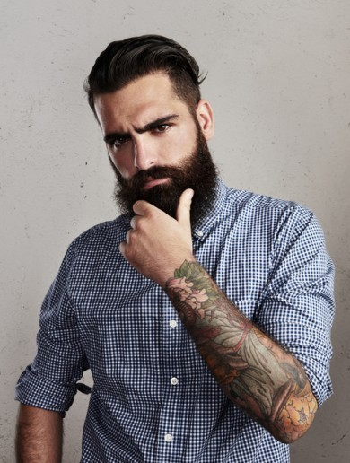 Are you a 'handsome bearded customer'? This woman is looking for you