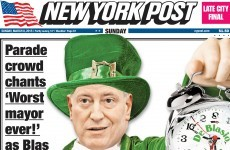 Mayor winds up Irish community so much he makes NY Post front page