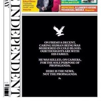 This striking newspaper cover won front page of the year last night
