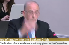 Watch: Patrick Honohan bangs table as he comes to 'loggerheads' with Pearse Doherty