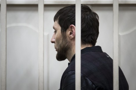 Zaur Dadaev stands in court on Sunday.