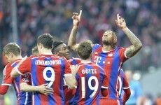 Bayern hit Shakhtar for 7 after controversial early red card