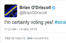 Brian O'Driscoll tweeted his support of marriage equality and everyone is delighted